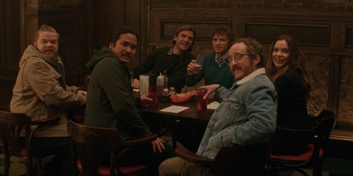 original mighty ducks actors at pizza restaurant on the mighty ducks game changers