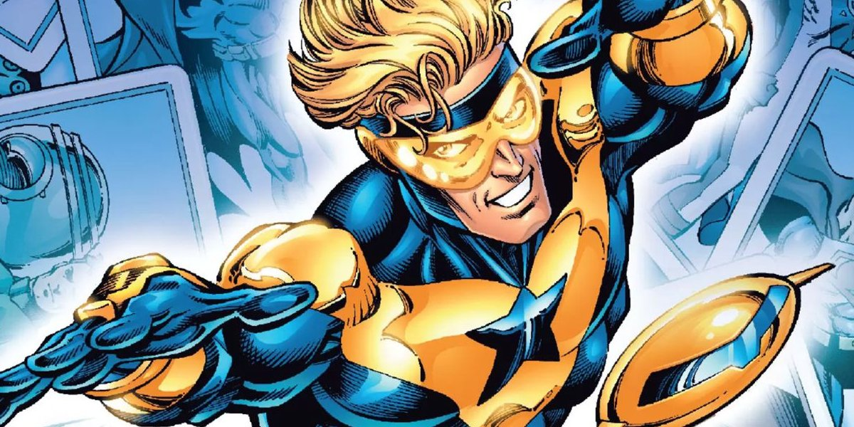 Michael Carter is Booster Gold