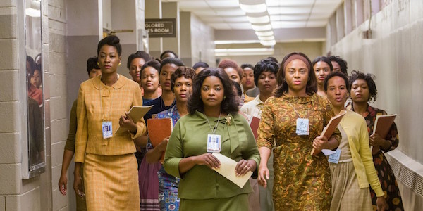 A large group of women walking in Hidden Figures