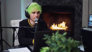 A screengrab of Awsten Knight recording his podcast