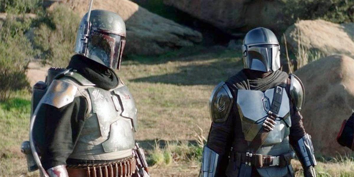 Boba Fett and Din Djarin in The Mandalorian.