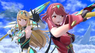 Pyra and Mythra in Super Smash Bros Ultimate