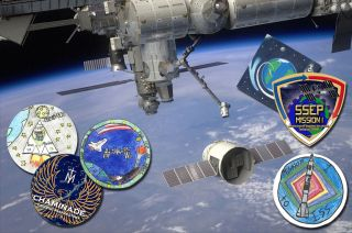 Student-Designed Mission Patches on SpaceX's Dragon