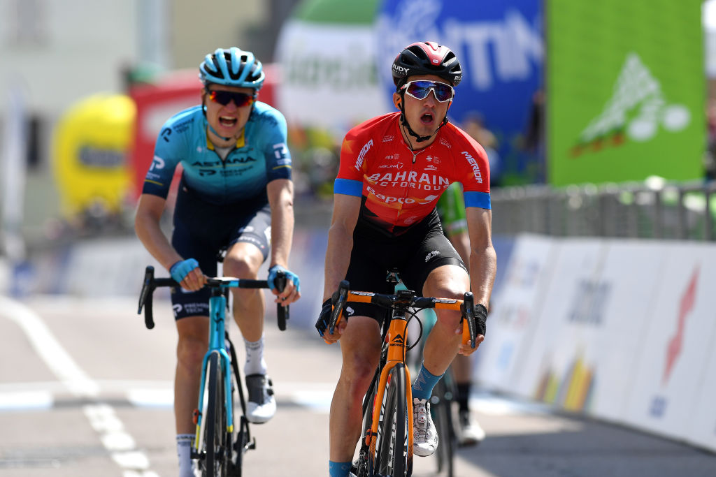 Pello Bilbao (Bahrain-Victorious) wins stage 4 of the Tour of the Alps