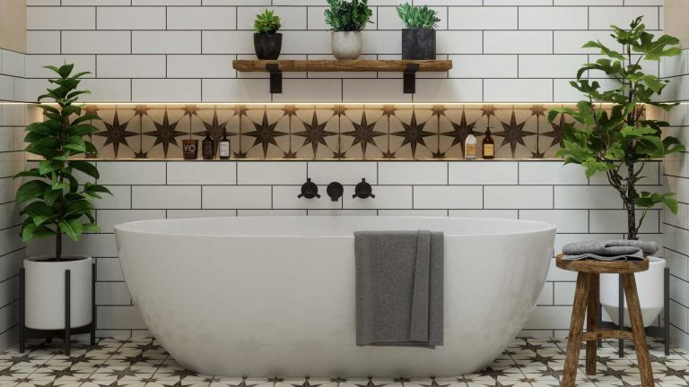 bathroom encaustic tile ideas