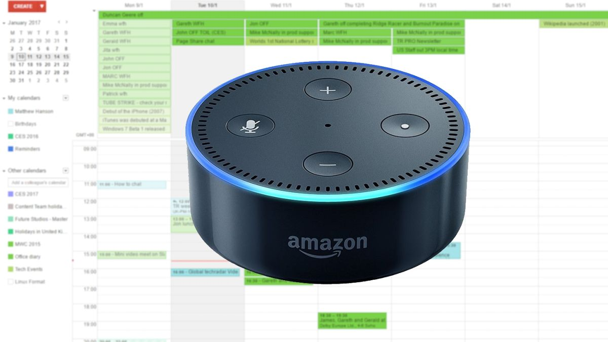how to connect your google calendar to amazon echo techradar. Black Bedroom Furniture Sets. Home Design Ideas
