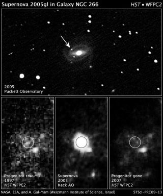 Star Explodes, and So Might Theory