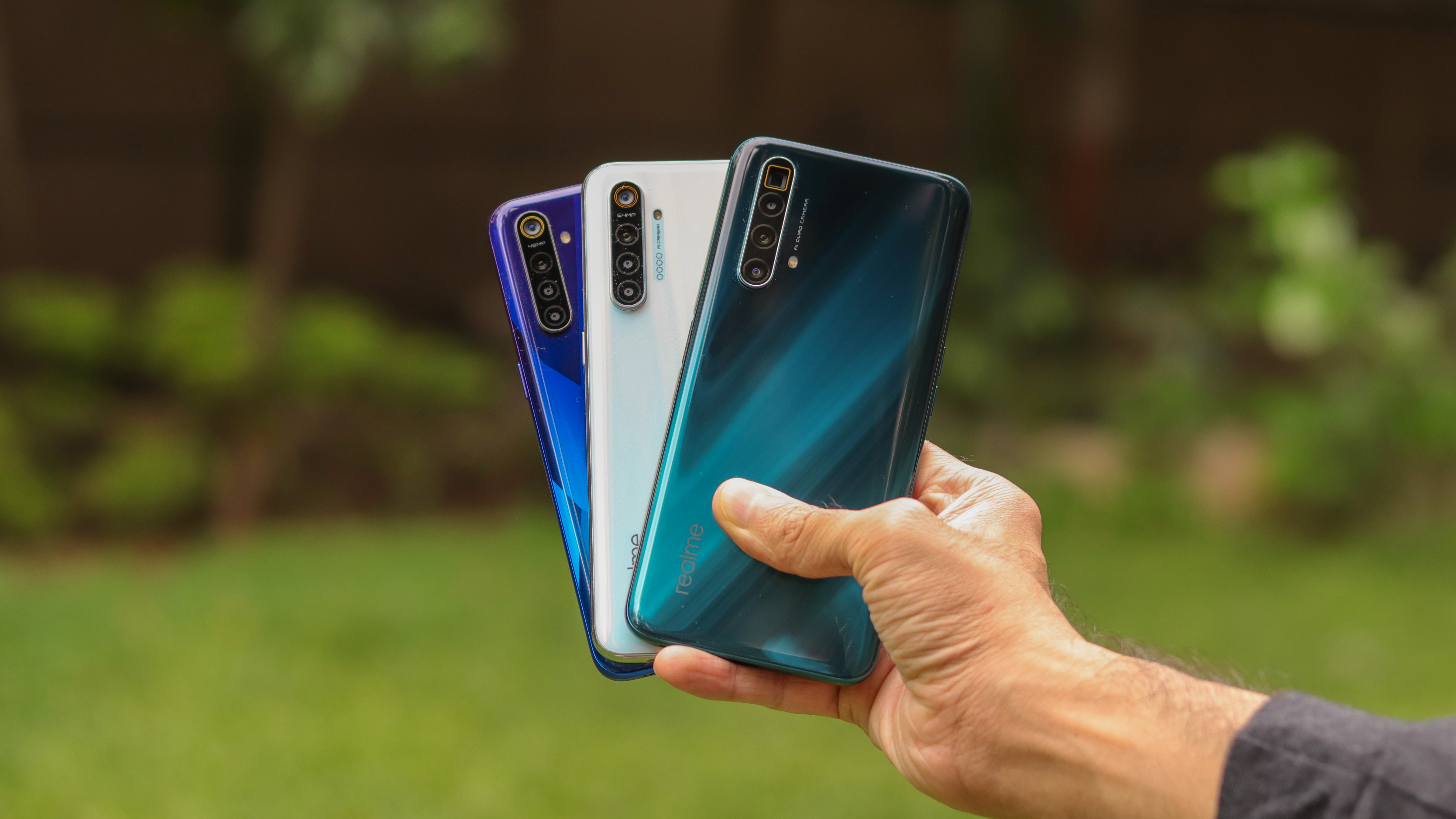 Other Realme phones with a similar design