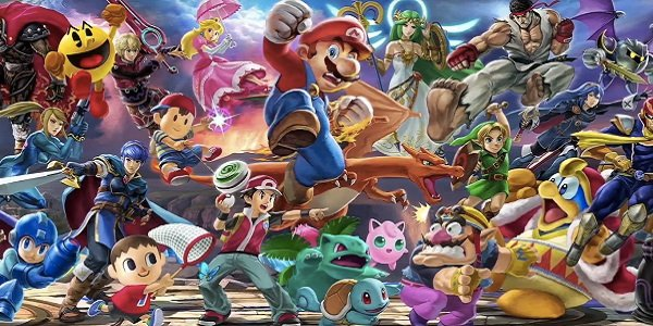 The cast of Smash Bros. Ultimate.