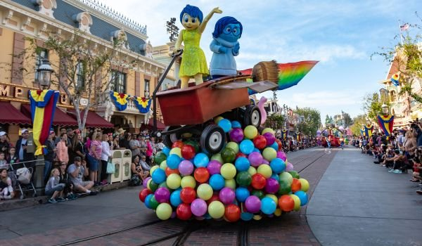Inside Out float from the Pixar Play Parade