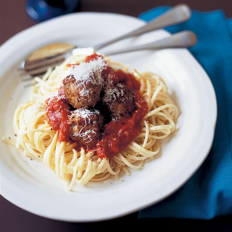 Oregano and Lemon Meatballs with Spicy Tomato Sauce recipe-recipe ideas-new recipes-woman and home