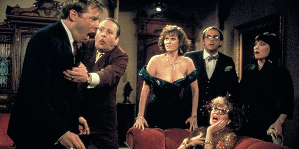 Madeline Kahn, Tim Curry, Lesley Ann Warren, Eileen Brennan, Christopher Lloyd, Michael McKean, and