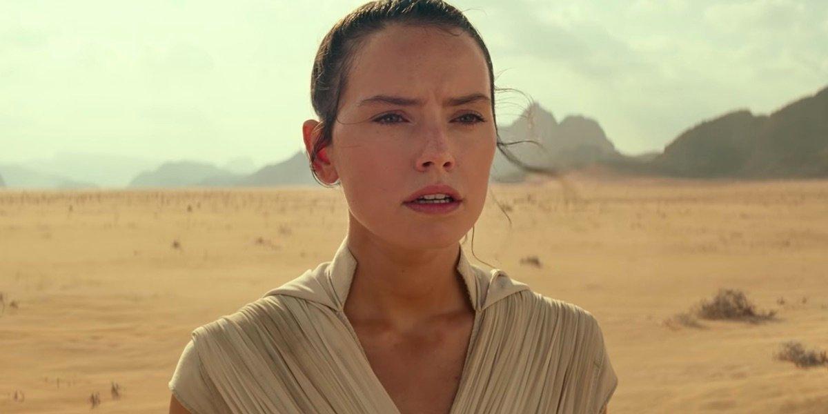Rey in the Rise of Skywalker trailer