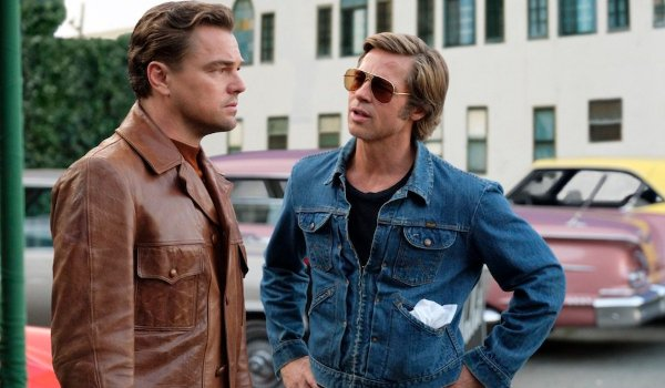 Once Upon A Time In Hollywood Rick and Cliff talk in the bar parking lot