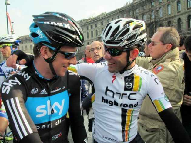 Bradley Wiggins and Mark Cavendish, Milan-San Remo 2011, start