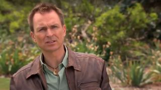 Amazing Race host Phil Keoghan discussing contestants.
