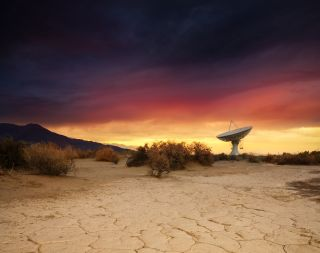 "Known to locals as ""the Big Ears,"" the Owens Valley Radio Observatory is located near Bishop, California"
