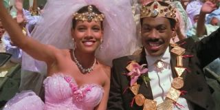 Coming To America Lisa and Akeem wave to the crowd