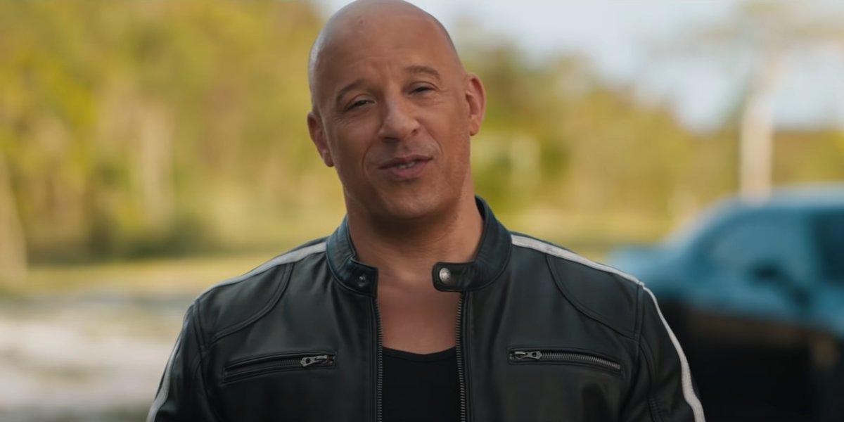 Vin Diesel welcomes people back to the movies in F9 promo reel.