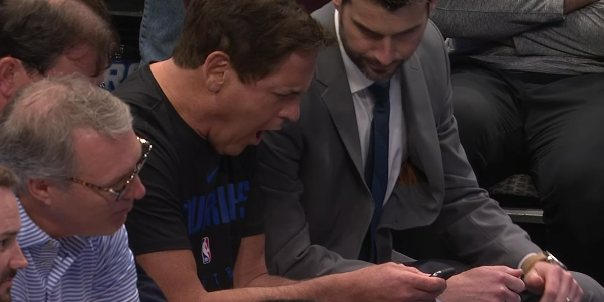 Mark Cuban learning the NBA season would be suspended