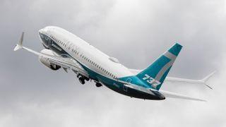 A Boeing 737 Max airplane.