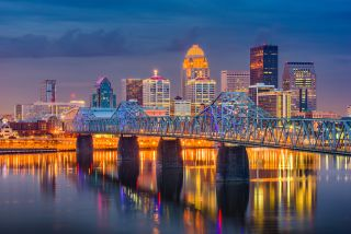 Skyline of Louisville, Kentucky.