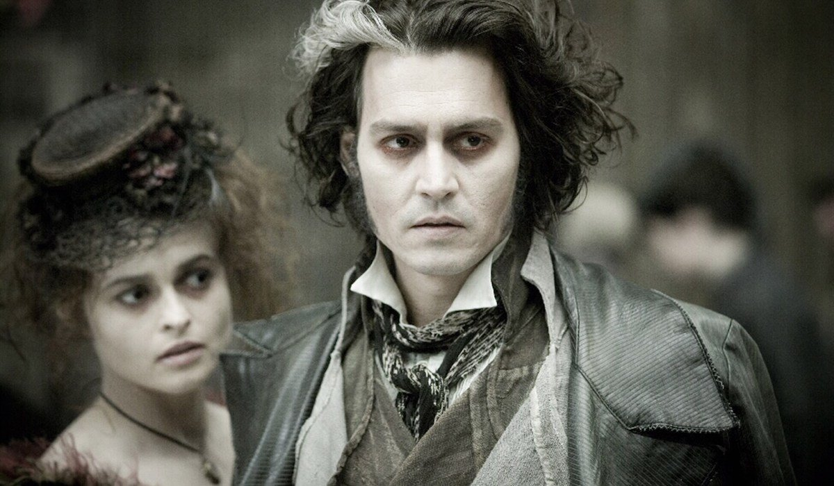 Helena Bonham Carter and Johnny Depp in Sweeney Todd
