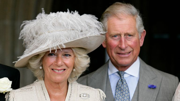 Camilla, Duchess of Cornwall and Prince Charles, Prince of Wales attend the wedding of Ben Elliot and Mary-Clare Winwood at the church of St. Peter and St. Paul