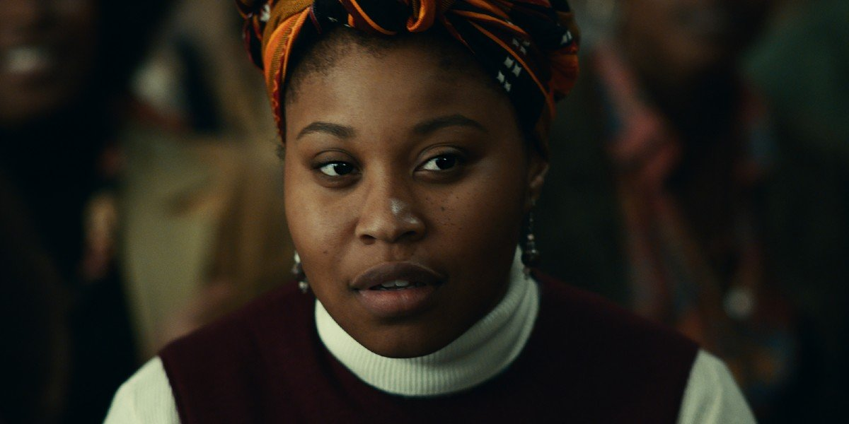 Dominique Fishback in Judas and the Black Messiah