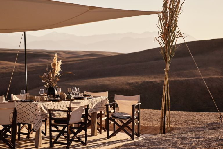 Outdoor dining area by H&M Home Sale