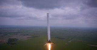 SpaceX F9R Reusable Rocket Launch Test