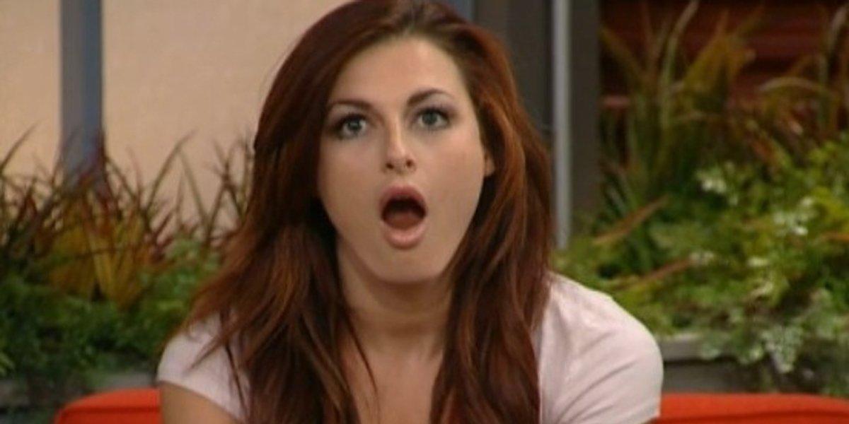 Rachel Reilly looks shocked Big Brother 13
