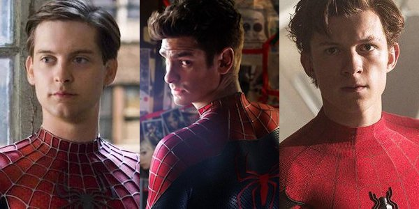 Tobey Maguire, Andrew Garfield, and Tom Holland in a Spider-Man crossover?