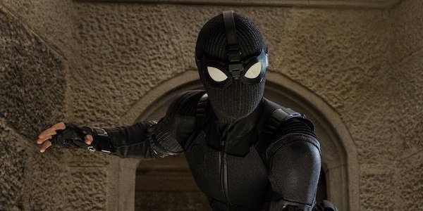 Spider-Man in the stealth suit