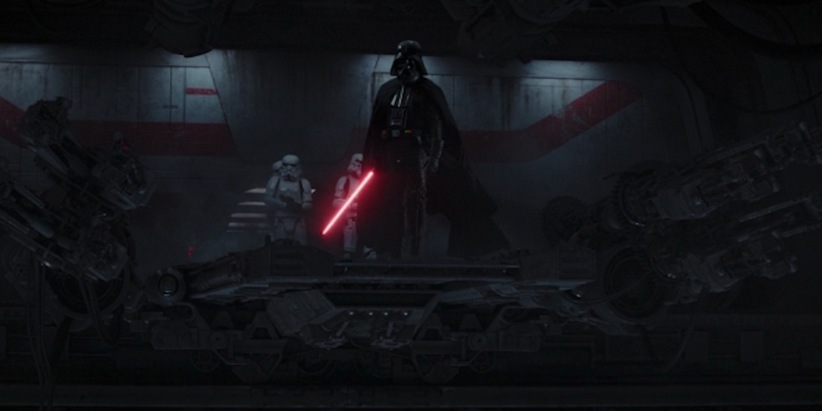 Darth Vader in end of Rogue One
