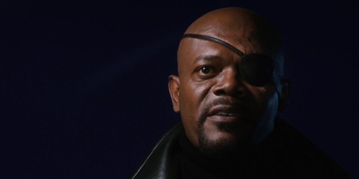 Nick Fury discussing the Avengers Initiative