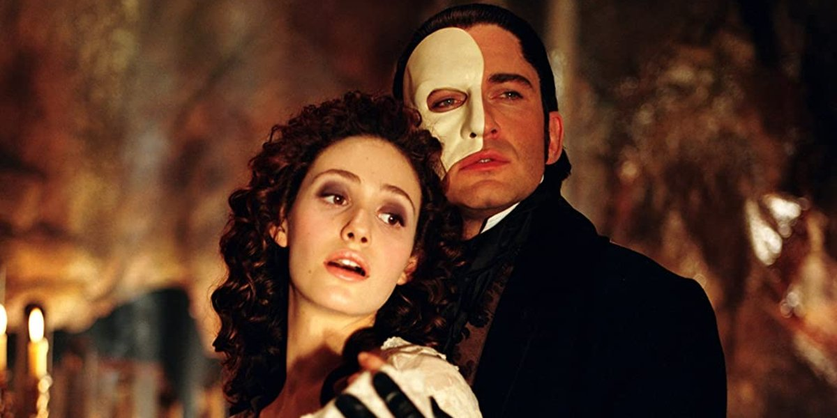 Emmy Rossum and Gerard Butler in The Phantom of the Opera