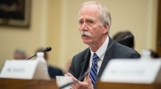 Bill Gerstenmaier, NASA associate administrator for human exploration and operations, testifying at a House hearing July 10. Hours later, NASA Administrator Jim Bridenstine announced Gerstenmaier and another top exploration systems official were being reassigned.