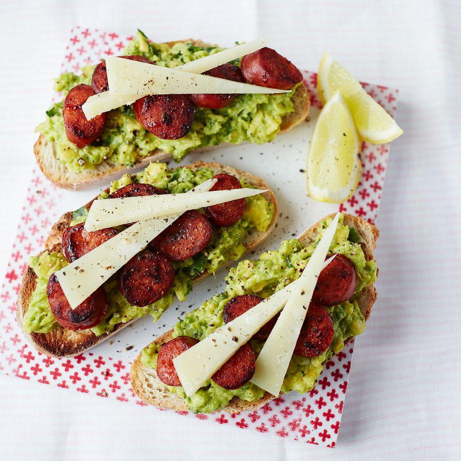 Avocado and Chorizo Bruschetta Recipe
