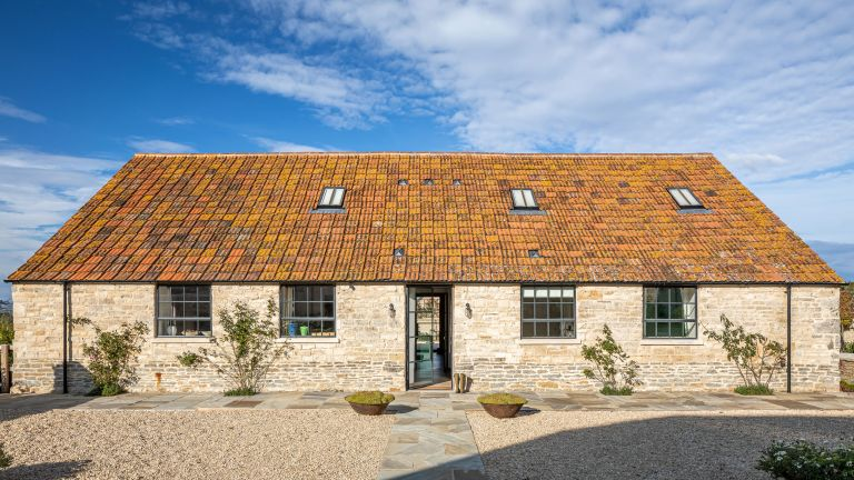19th century colorful cowshed conversion in Dorset