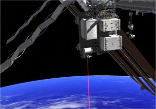 OPALS laser beaming data to Earth