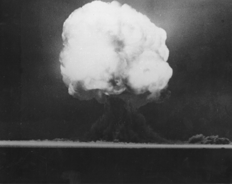 1st Ever Bomb Trinity Test Nuclear Blast PHOTO Fire Ball,1945 Atomic Bomb Weapon