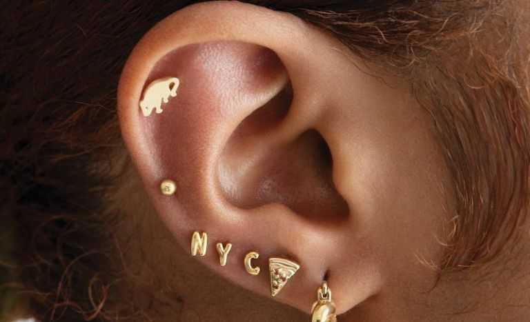 Studs Loves New York huggies earring collection