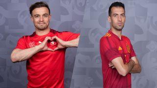 Switzerland vs Spain at Euro 2020