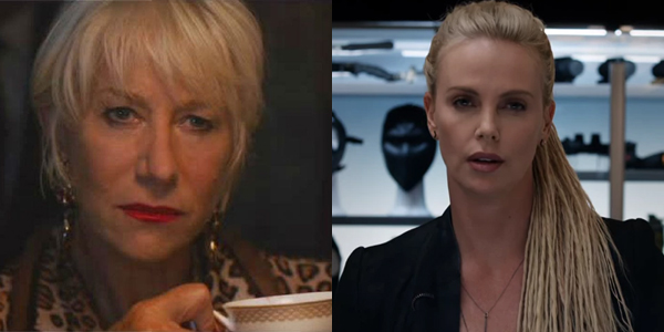 Helen Mirren and CHarize Theron in Fate of the Furious
