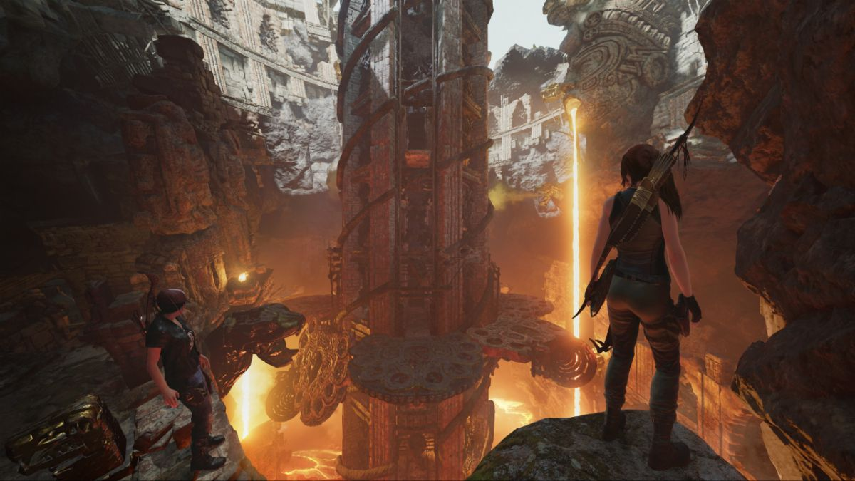 Shadow of the Tomb Raider's first DLC is the Forge, and the floor is lava