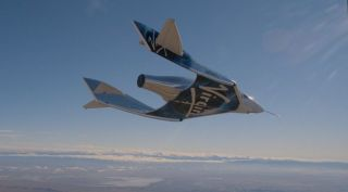 VSS Unity SpaceShipTwo glide flight