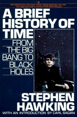 "Front Cover of ""A Brief History of Time,"" published in 1988 by Bantam Books."