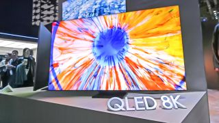 8K QLED TV on display at CES