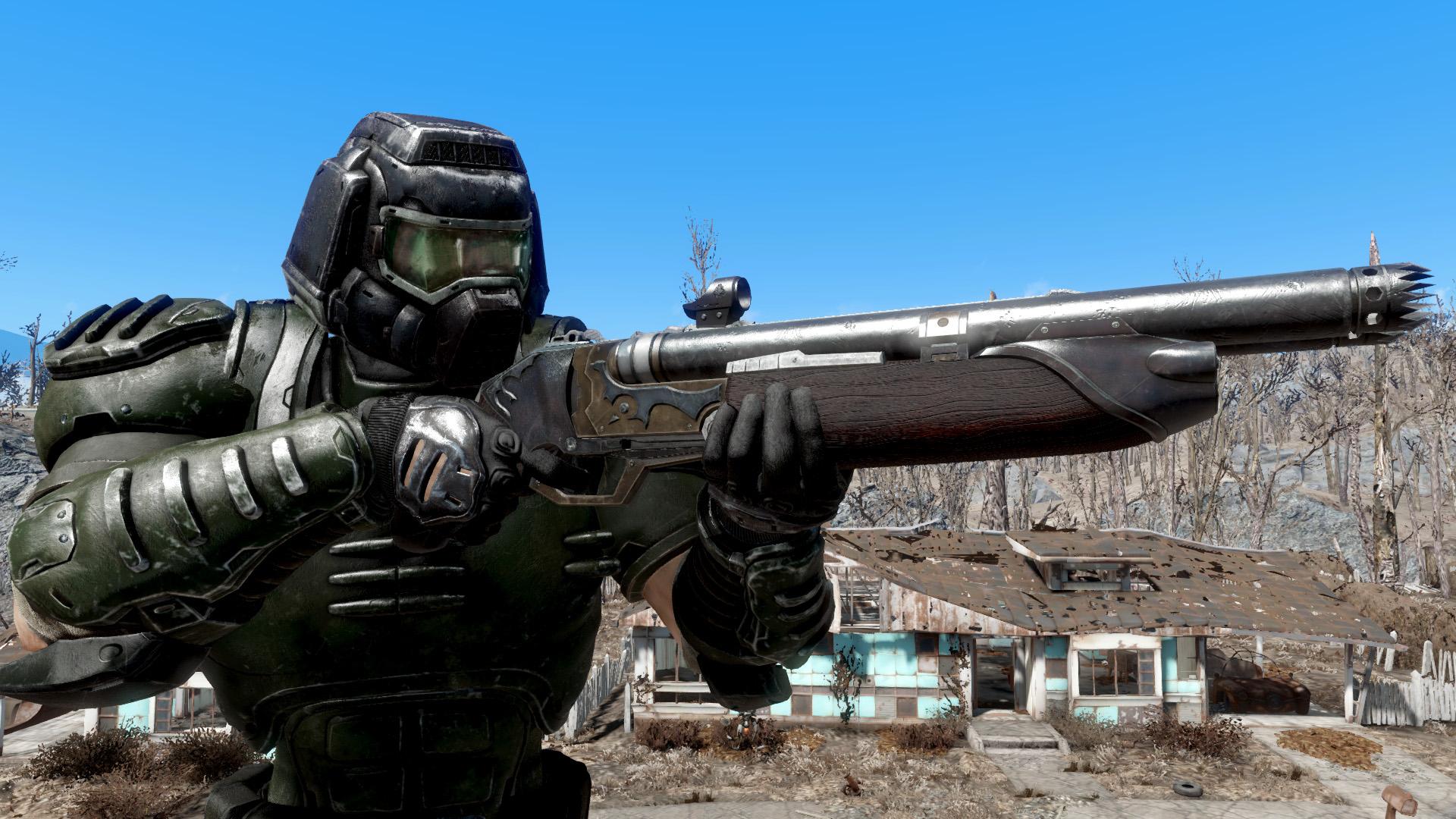 Fallout 4 Doomguy Armor mod